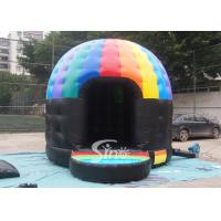 China Kids N adults music party disco dome bounce house with light hook made of best pvc tarpaulin on sale