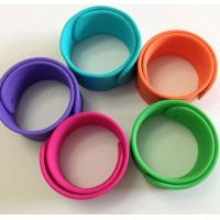 Wholesale silicone bracelet with logo ,silicone slap wristbands for sport games from china suppliers