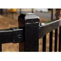Customized Powder Coating Steel Fence and Steel Gate Designs for sale