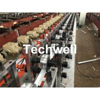 Wholesale PLC Frequency Control PU Foam Roller Shutter Slat Machine With Guiding Column Forming Frame Structure from china suppliers