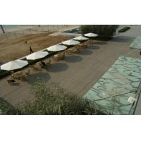 China Solid WPC Decking Flooring With Grain Surface For Rest And Relax on sale