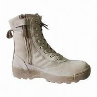 Wholesale Military Boot, Combat Boot, Army Boot, Safety Boot with Genuine Leather Upper from china suppliers