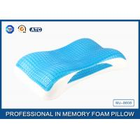 Wholesale Wave Contour Memory Foam Cooling Gel Pillow with Luxury Tencel Pillow Cover from china suppliers