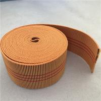 Wholesale 60mm Orange Color Outdoor Furniture Webbing 20%-30% Elongation With 3 Red Lines from china suppliers