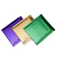 Wholesale Colorful Metallic Glamour Bubble Mailers , Metallic Shipping Envelopes Tear Resistant from china suppliers