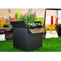 Wholesale Painted Black Square Stainless Steel Planters Waterproof American Style  from china suppliers