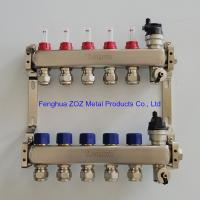 China ZZ18858 Pre-assembled floor heating manifold with flow meters , Radiant Heat Manifold Assembly for sale