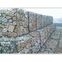 Plastic Coated Twist Gabion Wall Baskets Anti Corrosive For Protection River Bed
