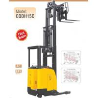 China Electric Seated Reach Truck Forklift 1.5 Ton Load Capacity With Double Scissor for sale