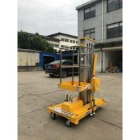 China Yellow Single Mast Aerial Platform Lift 8m And Loading 130Kg Long Life Time for sale