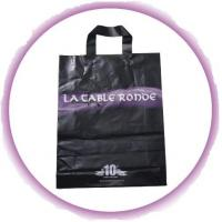 Wholesale Customized PP Ribbon Soft Loop Handle Bag With Square Bottom For Shopping from china suppliers