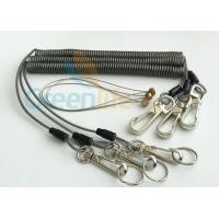 Buy cheap Security Rope Wire Retractable Coil Cord Fall Protection For Tools , 3 Meter Max Stretch from wholesalers