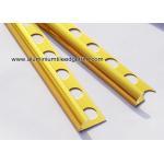 China Shiny Deep Gold Quadrant Aluminium Tile Edge Trim Profiles For Tile Installation for sale