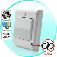 Wholesale HD Spy Camera Light Switch with GSM Remote Control (Motion Detection, GSM MMS Video Alarm) from china suppliers
