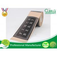 Quality Custom Printing Black Flood Coat Kraft Packaging Tape With Logo Design 2 Inch Wide for sale