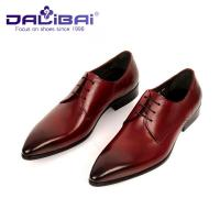 Wholesale Genuine Leather Pointed Toe Wedding Formal Dress Shoes Men's Italian design from china suppliers