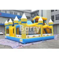 Outdoor Kids Minions Inflatable Bouncy Castle With Slide 0.55MM PVC Tarpaulin