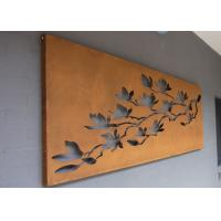 Wholesale Laser Cut Corten Steel Metal Wall Art Trees And Fence For Outdoor / Indoor from china suppliers