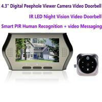 """Wholesale 4.3"""" LCD Electronic Door Peephole Viewer Camera Home Security DVR Night Vision Video Doorbell Door Phone Access Control from china suppliers"""