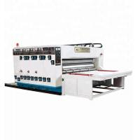 China Chain Feeding Printing Slotting Die Cutting Machine , Flexo Corrugated Machine on sale