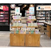 China Anti Corrosive Cosmetic Display Shelves Makeup Display Table OEM / ODM Welcome on sale