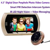 """Wholesale 4.3"""" Digital Door Peephole Viewer Photo Video Camera Recorder Home Security Smart PIR Video Doorbell IR LED Night Vision from china suppliers"""