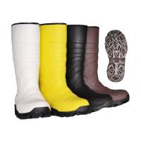 Wholesale PVC Upper Material Safety Rain Boots steel toe rubber boots For Men Black Color from china suppliers