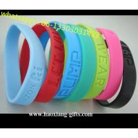 Promotional Charm 1/2 inches Sport  colorful silicone Wristband/Bracelet for sale