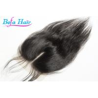 Wholesale Swiss Brazilian Grade 6A Remy Straight Hair Closure With 130% Density from china suppliers