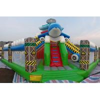 China Inflatable Amusement Park Dolphin Air Castle Bouncer Slide Fun City Game Combo on sale