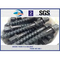 Wholesale Customized Railroad Screw spike for railway fastening system construction from china suppliers