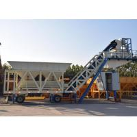 China Automatic Heavy Construction Machinery Mobile Concrete Batching Plant With 100t Cement Silos on sale