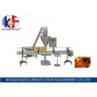 Buy cheap PLC and touch screen control table manual abc dry powder filling machine from wholesalers