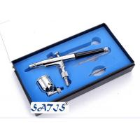 Wholesale Professional dual action makeup132 airbrush gun , double action trigger Black / Silver from china suppliers
