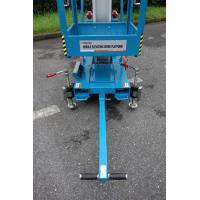 Quality Blue Vertical Single Mast Lift 8 Meter Working Height For Factory Working for sale