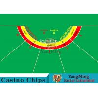 Quality Waterproof Half Round Casino Table Layout With Specialized Patterns / Colors for sale