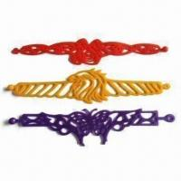 Wholesale Silicone Tattoo Bracelet, High Elasticity, OEM Designs, Sizes and Colors are Accepted from china suppliers