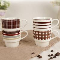 Buy cheap Stackable Coffee Travel Cup , Coffee Ceramic Mug Advertising Promotion Gift from wholesalers