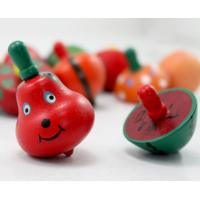 Wholesale wooden toy Spinning Top toys fruit shaped from china suppliers
