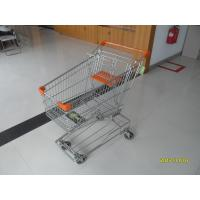 Wholesale 100L Low Carbon Metal Shopping Cart With 4 Swivel 4 Inch Autowalk Casters from china suppliers