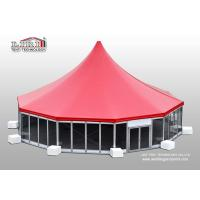 Wholesale Aluminum High Peak Multi sides Luxury Wedding Tents With Glass ABS Walls from china suppliers