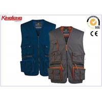 Wholesale Men's sleeveless Jacket Polyester Cotton Work Vest with Multi pocket from china suppliers