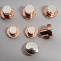 China Round Head Electrical Contact Materials Trimetal Rivets For 12V / 24V AC / DC Relays on sale