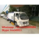 China cheapest price FORLAND MINI 4*2 mini ROAD SWEEPER TRUCK FOR SALE,hot sale forland mini RHD diesel street sweeper truck for sale