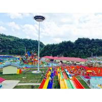Wholesale Customized 6 Lines Open Spiral Slide Aqua Splash Adult Water Slides For Water Park from china suppliers