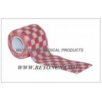 Wholesale Cohesive Bandages OEM Pink Check Elastic Wrap Custom Printed For Fixation from china suppliers