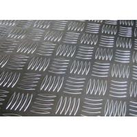 Easy Processing Aluminum Tread Plate , Coil 5 Bar Chequered Embossed Aluminum