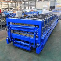 China Industrial Double Layer Roof Panel Roll Forming Machine High Efficiency on sale