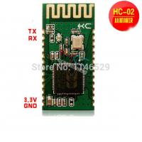 Wholesale HC-02 serial to Bluetooth module, the slave module for wireless data transmission from china suppliers