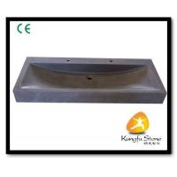 Xiamen Kungfu Stone Ltd supply Rectangle Black Basalt Basin For Indoor Kitchen,Bathroom for sale